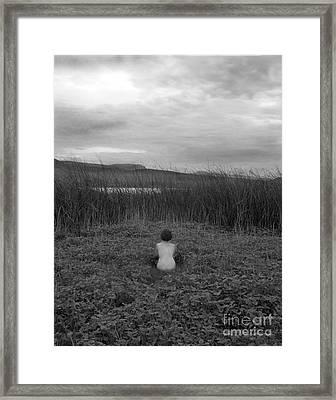 Sitting Nude-nevada Framed Print by Christian Slanec