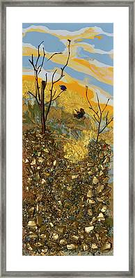 Sitting On A Gold Mine Framed Print by Donna Blackhall