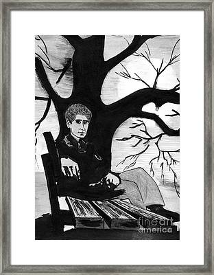 Sitting On The Bench Framed Print by Kostas Koutsoukanidis