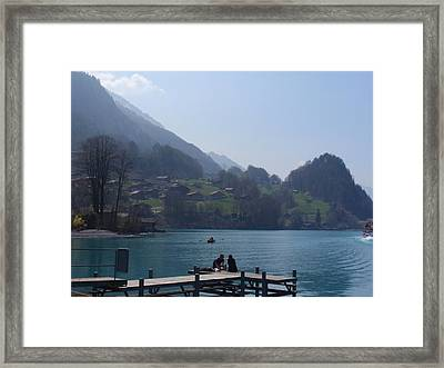 Sitting On The Dock Framed Print by Ursula Wright