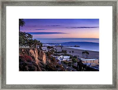 Sitting On The Fence - Santa Monica Pier Framed Print