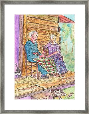 Sitting On The Front Porch Framed Print