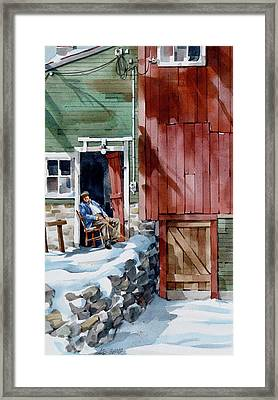 Sitting Out Winter Framed Print by Art Scholz