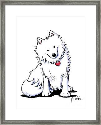 Sitting Pretty American Eski Framed Print