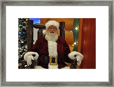 Sitting Santa Claus Framed Print by Teresa Blanton