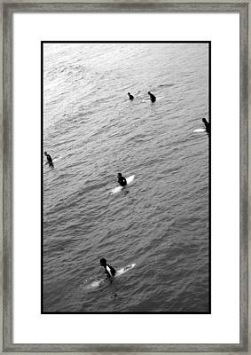 Sitting Waiting Wishing Framed Print by Brad Scott