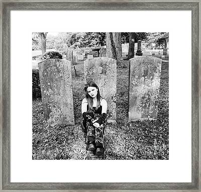Sitting With The Dead Framed Print