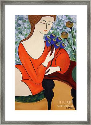 Sitting Women Framed Print