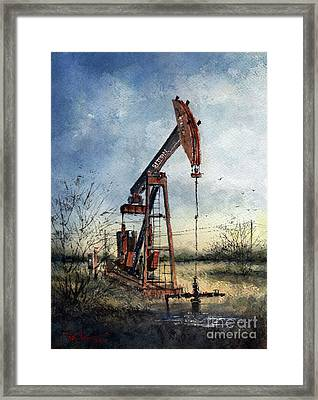 Sitton Pumpjack Framed Print
