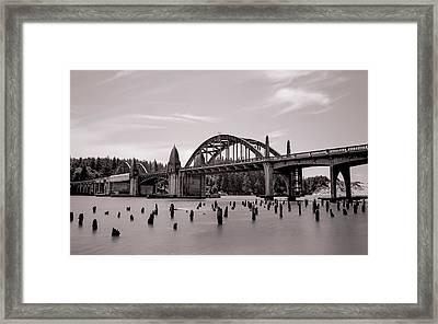 Siuslaw River Bridge Framed Print by HW Kateley
