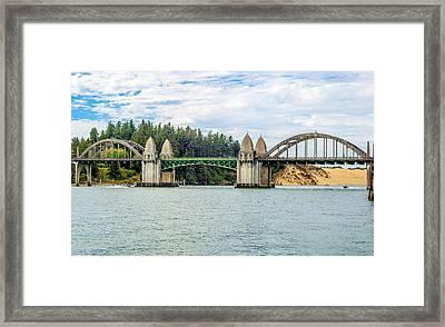 Siuslaw River Draw Bridge  Framed Print by Dennis Bucklin