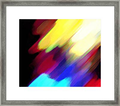 Framed Print featuring the painting Sivilia 1 Abstract by Donna Corless