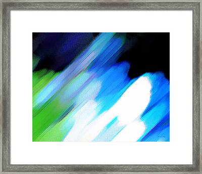 Framed Print featuring the painting Sivilia 10 Abstract by Donna Corless
