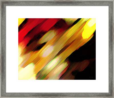 Framed Print featuring the painting Sivilia 11 Abstract by Donna Corless