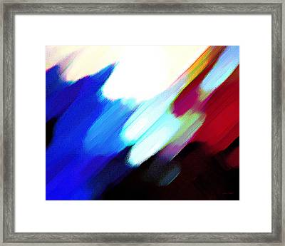 Framed Print featuring the painting Sivilia 12 Abstract by Donna Corless