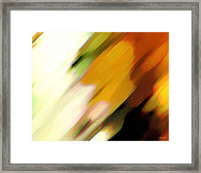 Framed Print featuring the painting Sivilia 2 Abstract by Donna Corless