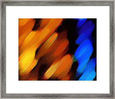 Framed Print featuring the painting Sivilia 3 Abstract by Donna Corless