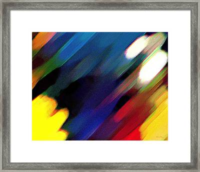 Framed Print featuring the painting Sivilia 4 Abstract by Donna Corless