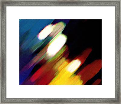Framed Print featuring the painting Sivilia 5 Abstract by Donna Corless