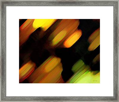 Framed Print featuring the painting Sivilia 6 Abstract by Donna Corless