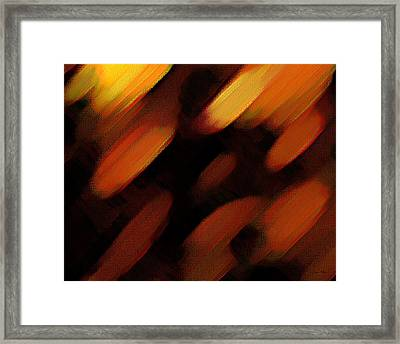Framed Print featuring the painting Sivilia 7 Abstract by Donna Corless