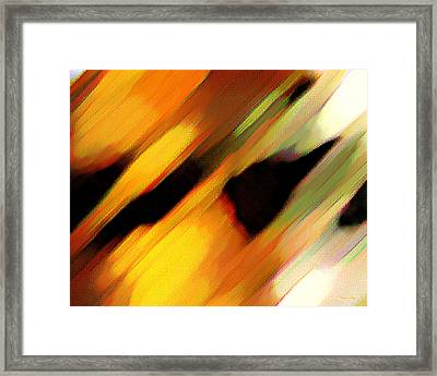 Framed Print featuring the painting Sivilia 8 Abstract by Donna Corless
