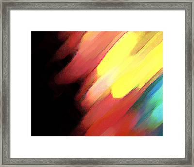 Framed Print featuring the painting Sivilia 9 Abstract by Donna Corless