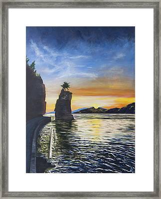 Siwash August Sun Framed Print by Barbara San Severino