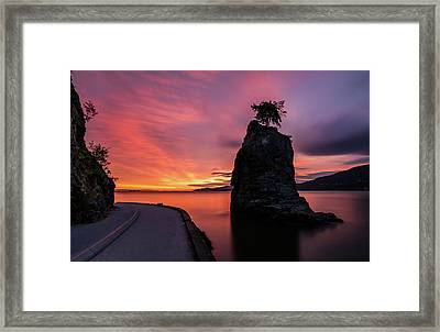 Siwash Rock Along The Sea Wall Framed Print by Pierre Leclerc Photography
