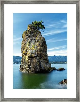 Siwash Rock Framed Print by Stephen Stookey