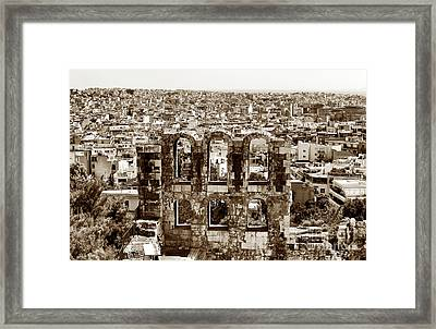 Six Arches In Athens Framed Print by John Rizzuto