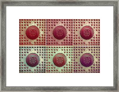 Six Panel Dot And Cube Landscape Framed Print