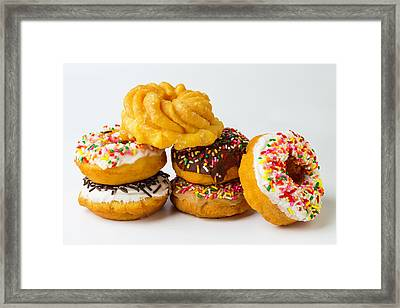 Six Donuts Framed Print