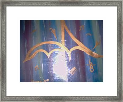Six Eight Singing In The Rain Framed Print by Alanna Hug-McAnnally