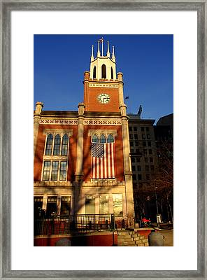 Six-fifteen At City Hall Framed Print by Lois Lepisto