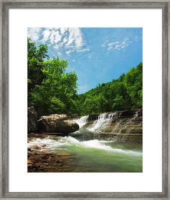Six Finger Falls Framed Print by Ron McGinnis