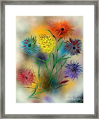 Six Flowers - E Framed Print