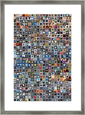 Six Hundred And One Hearts Framed Print by Boy Sees Hearts