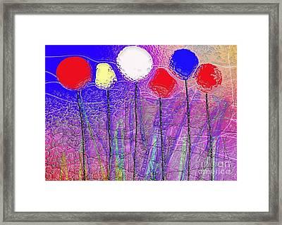 Six In A Row Framed Print