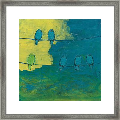 Six In Waiting Break Of Day Framed Print