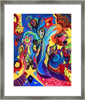 Framed Print featuring the painting Guardian Angel by Marina Petro