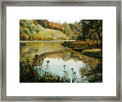 Six Mile Creek Ithaca Framed Print by John Clum