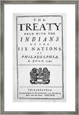 Six Nations Treaty, 1742 Framed Print by Granger