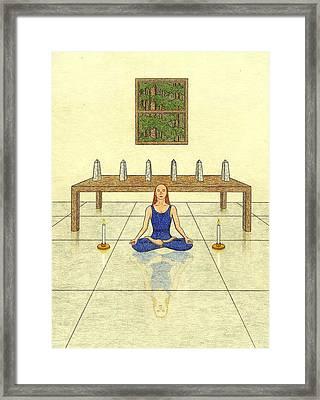 Six Of Obelisks Framed Print by Kathy Pullen