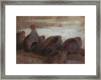 Six Partridges Framed Print
