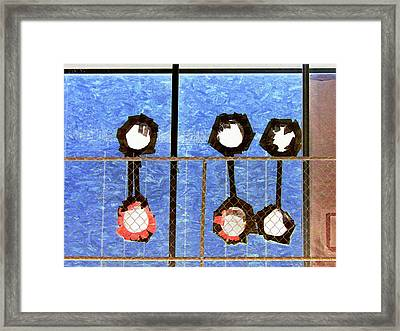 Six Punches Framed Print
