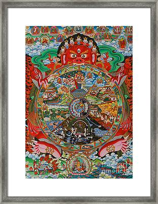 Six Realms Wheel Of Life Framed Print