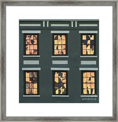Six Reflections Framed Print