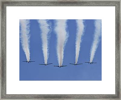 Framed Print featuring the photograph Six Roolettes In Formation by Miroslava Jurcik