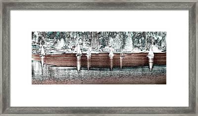 Six Sailboats Framed Print